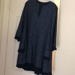 BCBGMaxAzria blue dress size medium